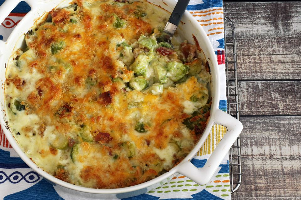Easy Brussels Sprouts Gratin With Cheese
