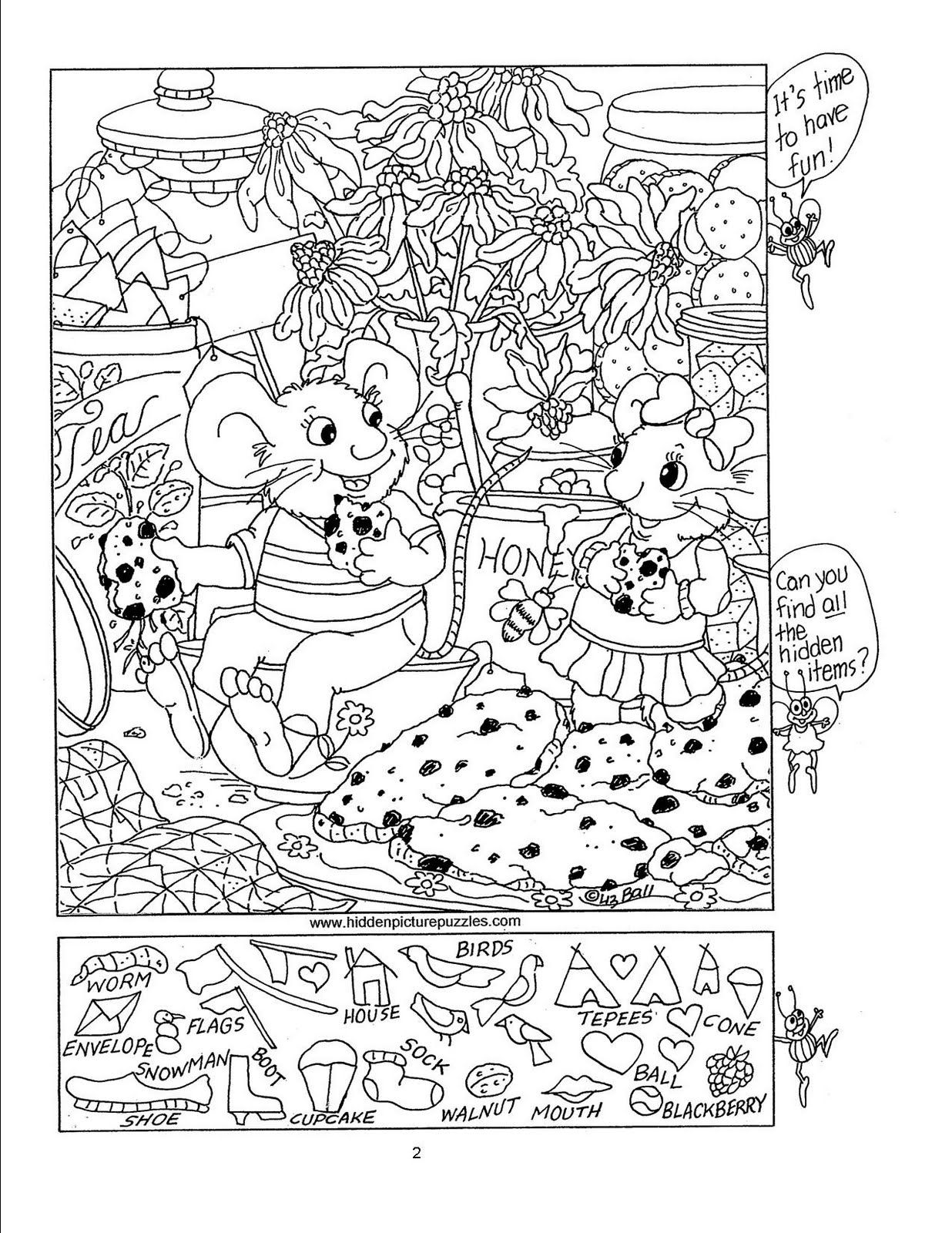 85 free hidden picture puzzles for kids