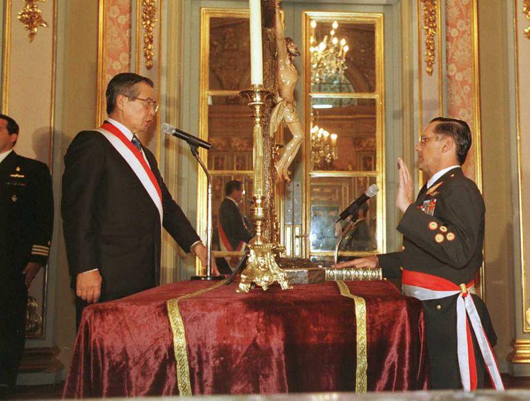 Peruvian President Alberto Fujimori