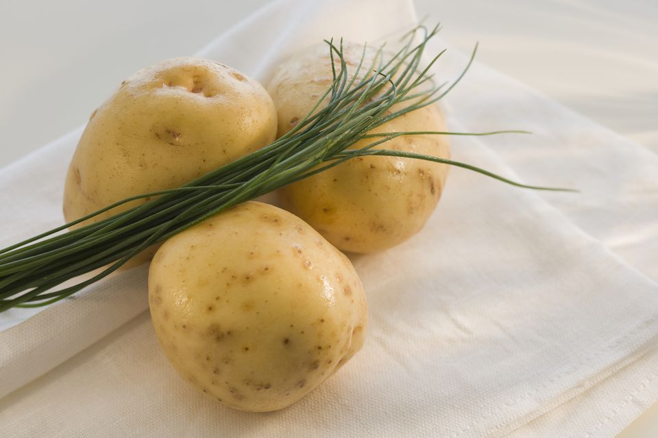 Yukon gold potatoes close-up