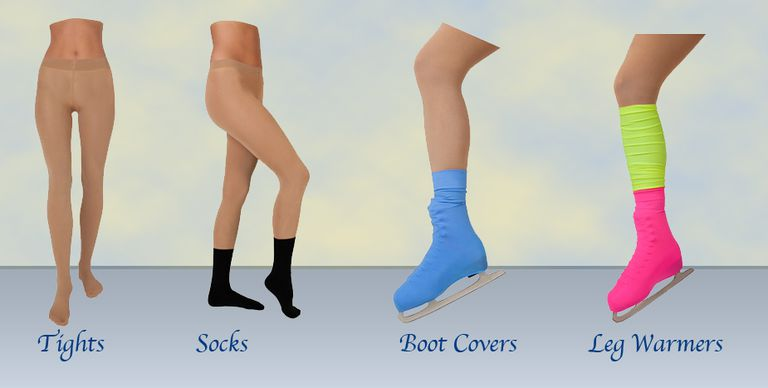 Nita Sports Tights, Socks, Boot Covers, and Leg Warmers for Figure Skaters