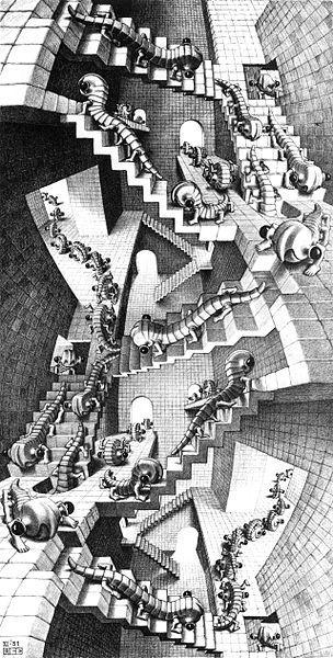 Maison aux escaliers de M.C. Escher