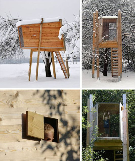 Modern Tree House Plan from Dornob