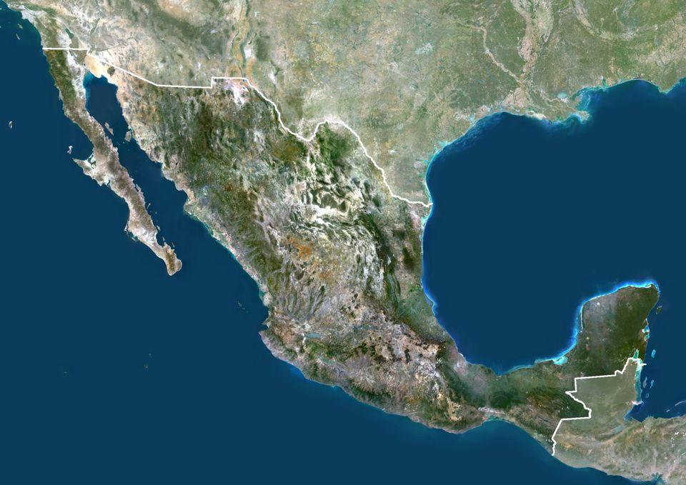 Mexico Satellite Map