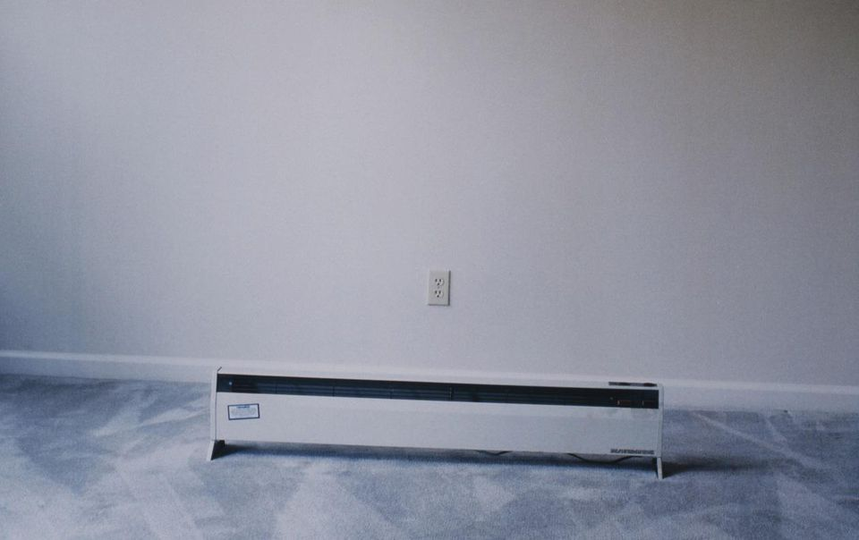 Electric Heater on Grey Carpet