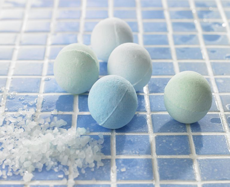 Bath bombs don't explode. They release bubbles of carbon dioxide gas, producing a fizzy effect.