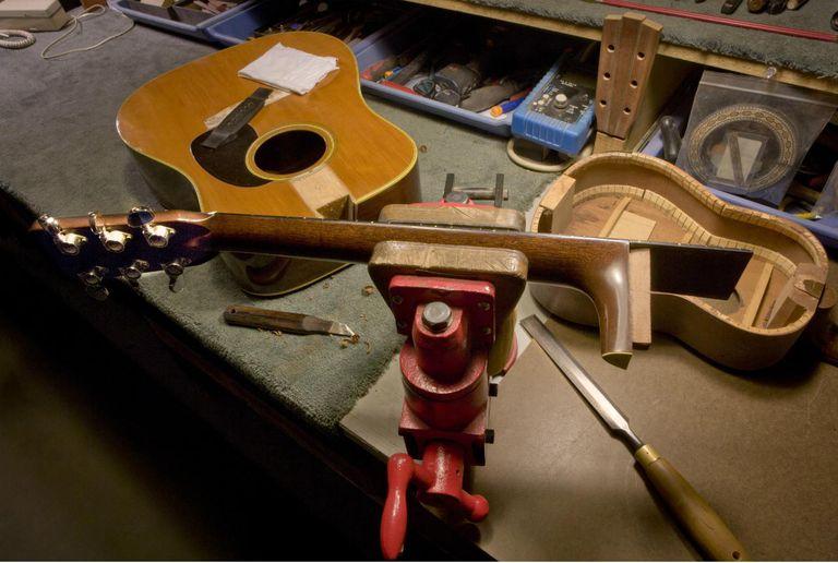 Repairing classical guitar