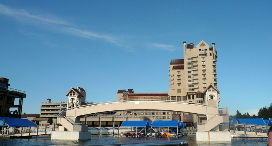 View of The Coeur d'Alene Resort and Marina ©Angela M. Brown 2009