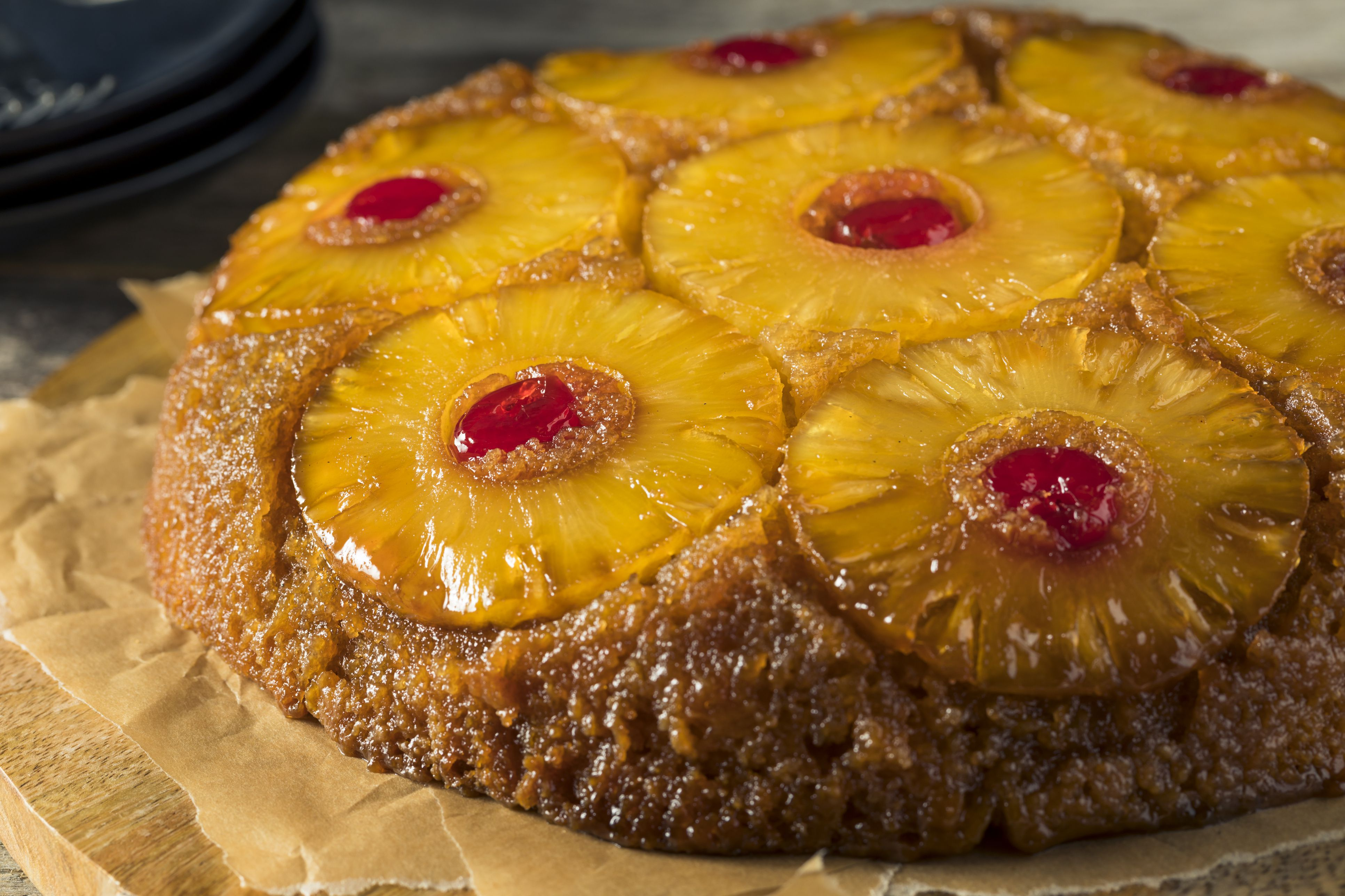 Pineapple Upside Down Cake From Mix X Pan