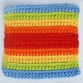 Double Rainbow Square Pattern