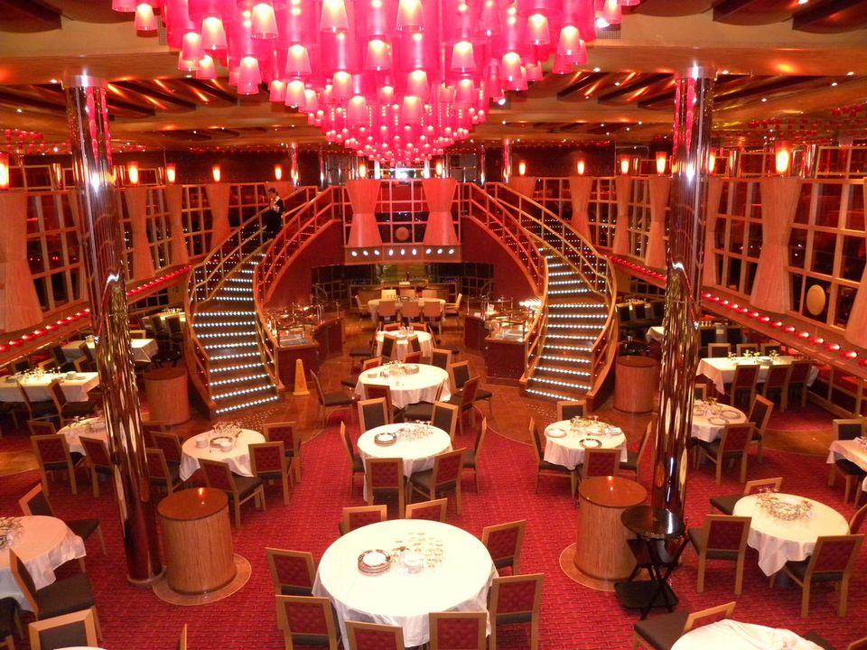 Carnival Dream Crimson Dining Room