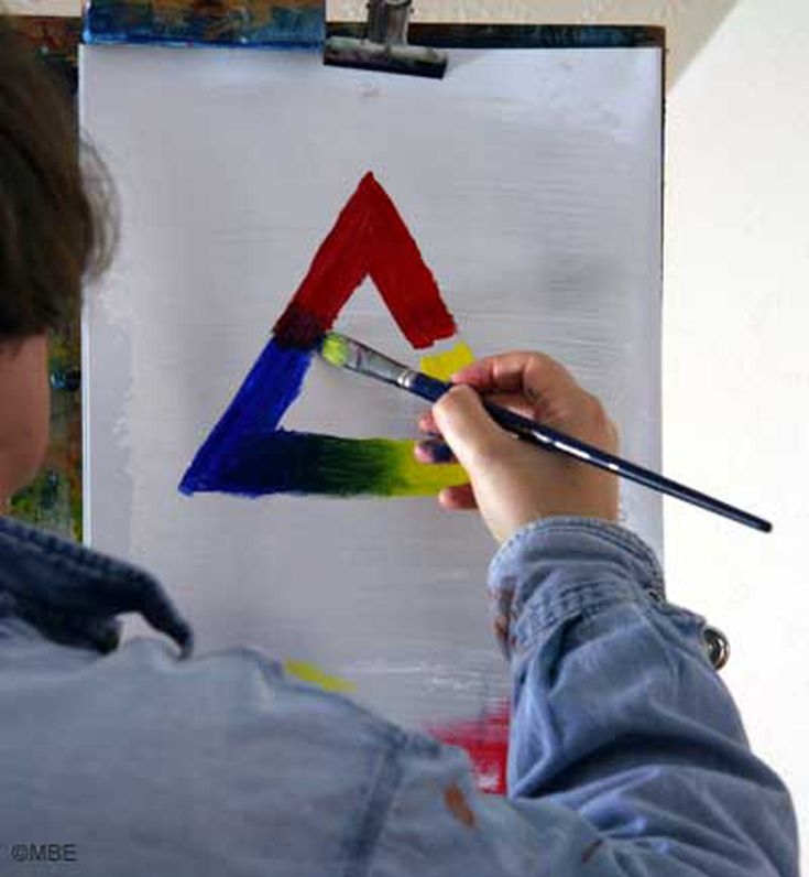 How To Paint A Color Theory Triangle