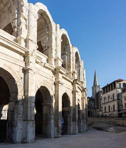 arles picture, arles amphitheater picture