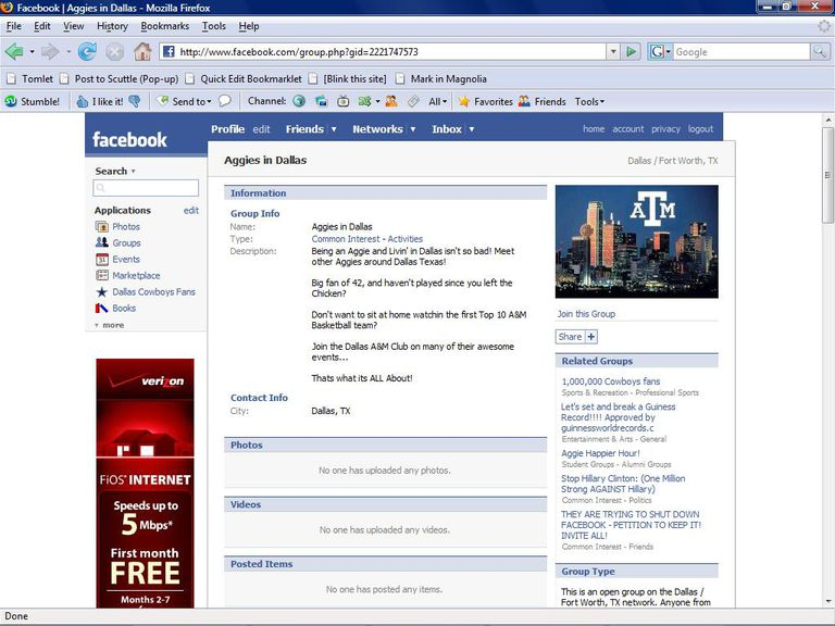 Social Networking Guide - Aggies Group on Facebook