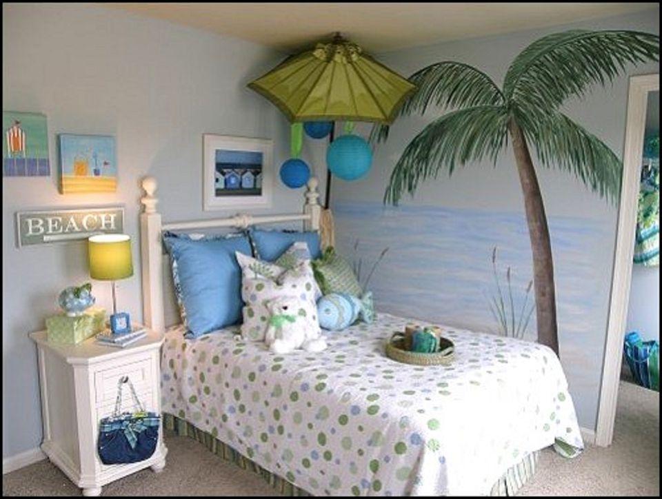Girl's Beach Bedroom Ideas