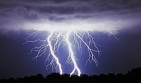 The electrical discharge of lightning exists in the form of plasma.