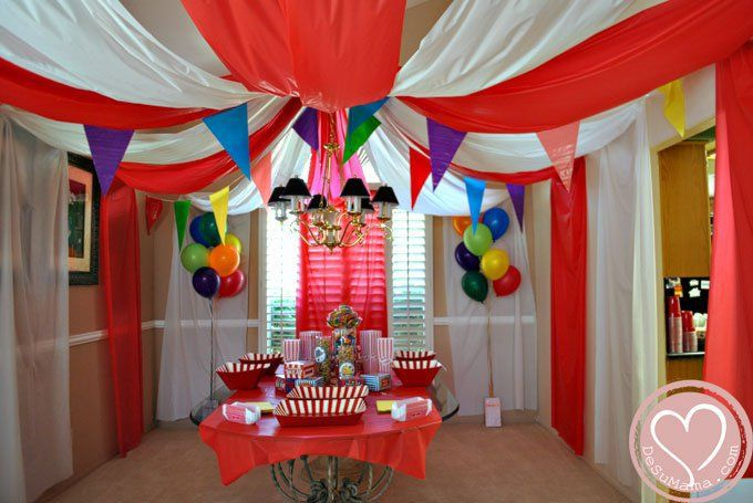 Circus party tent
