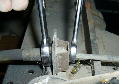 Loosen the brake line connection.