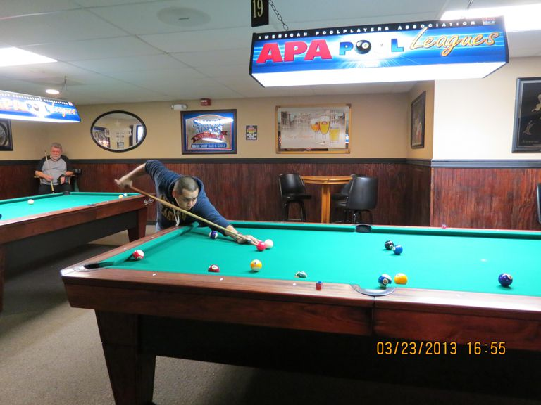 pool table space: cheating smaller-sized rooms