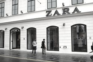 Facade of the store of Spanish fashion brand Zara in Zagreb.