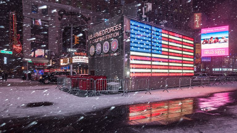 Snowy Times Square - New York