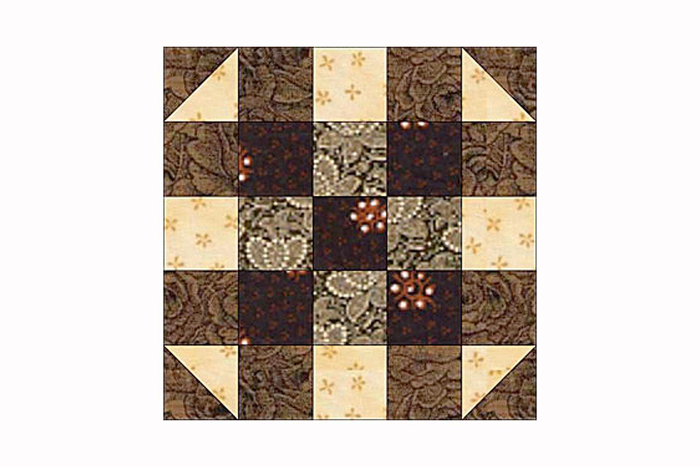 Round The Corner Quilt Block Pattern