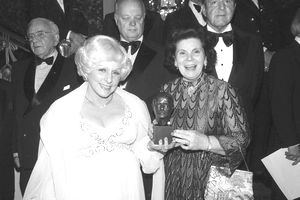 Mary Kay Ash and Mary Crowley Holding Award