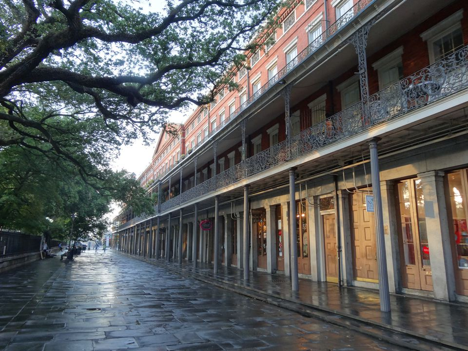 Buildings on edge of Jackson square in French Quarter