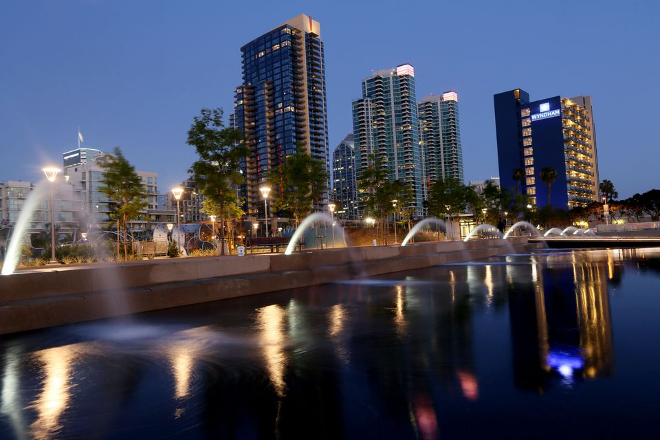 USA: Travel: Downtown San Diego, CA at Dusk