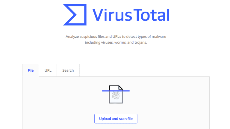 Screenshot of VirusTotal