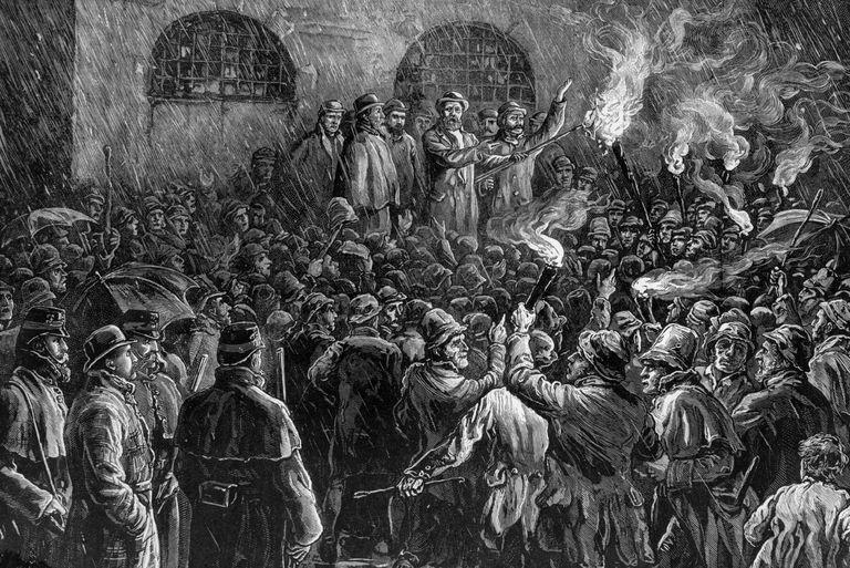 Illustration of protest of the Irish Land League