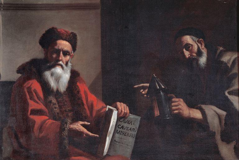 Diógenes y Platón de Mattia Preti