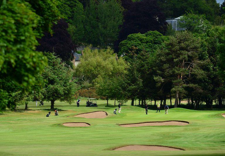 golf course scene in Musselburgh, Scotland