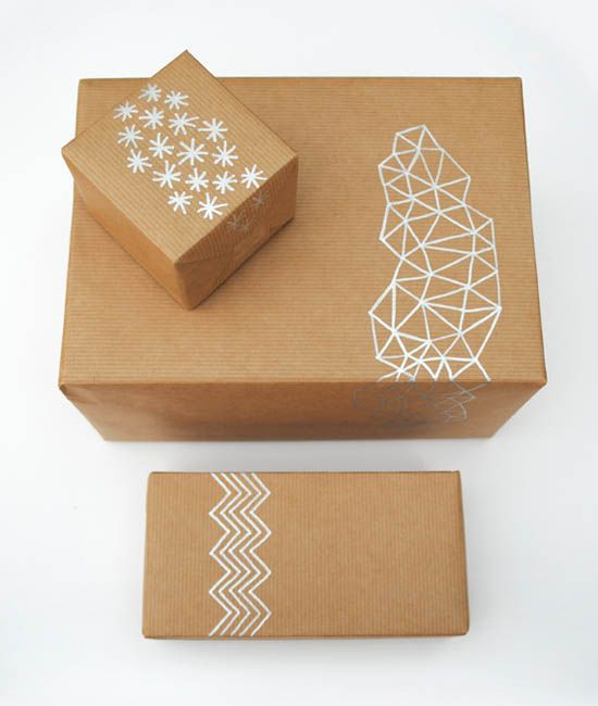 Modern geometric Christmas wrapping