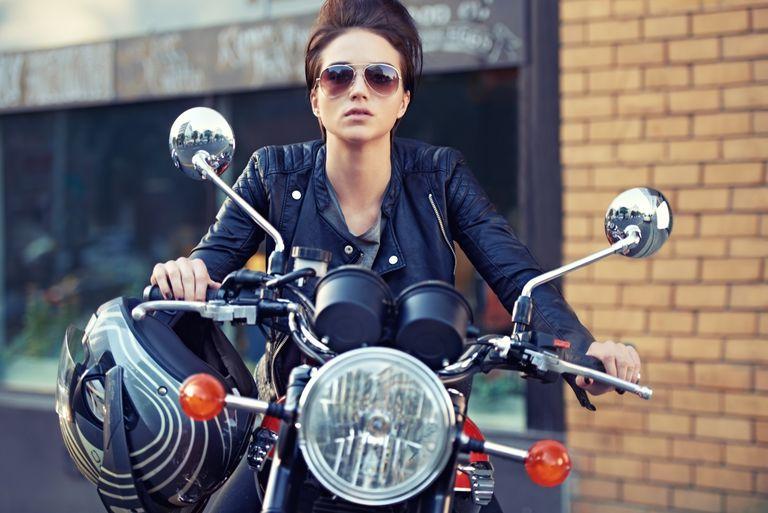 girl on motorcycle