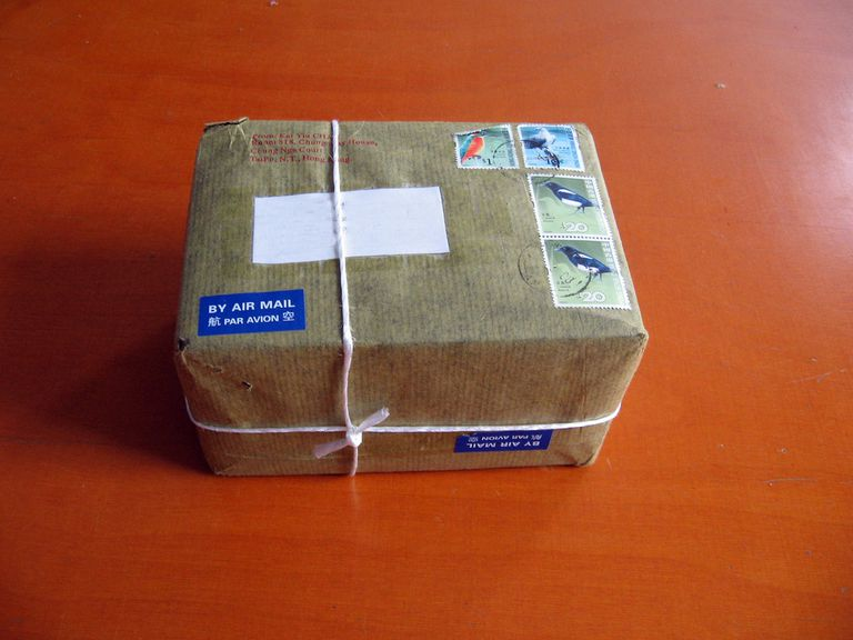 A package ready to be mailed