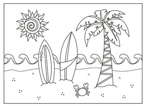 summer coloring pages at holiday crafts and creations - Summer Coloring Page