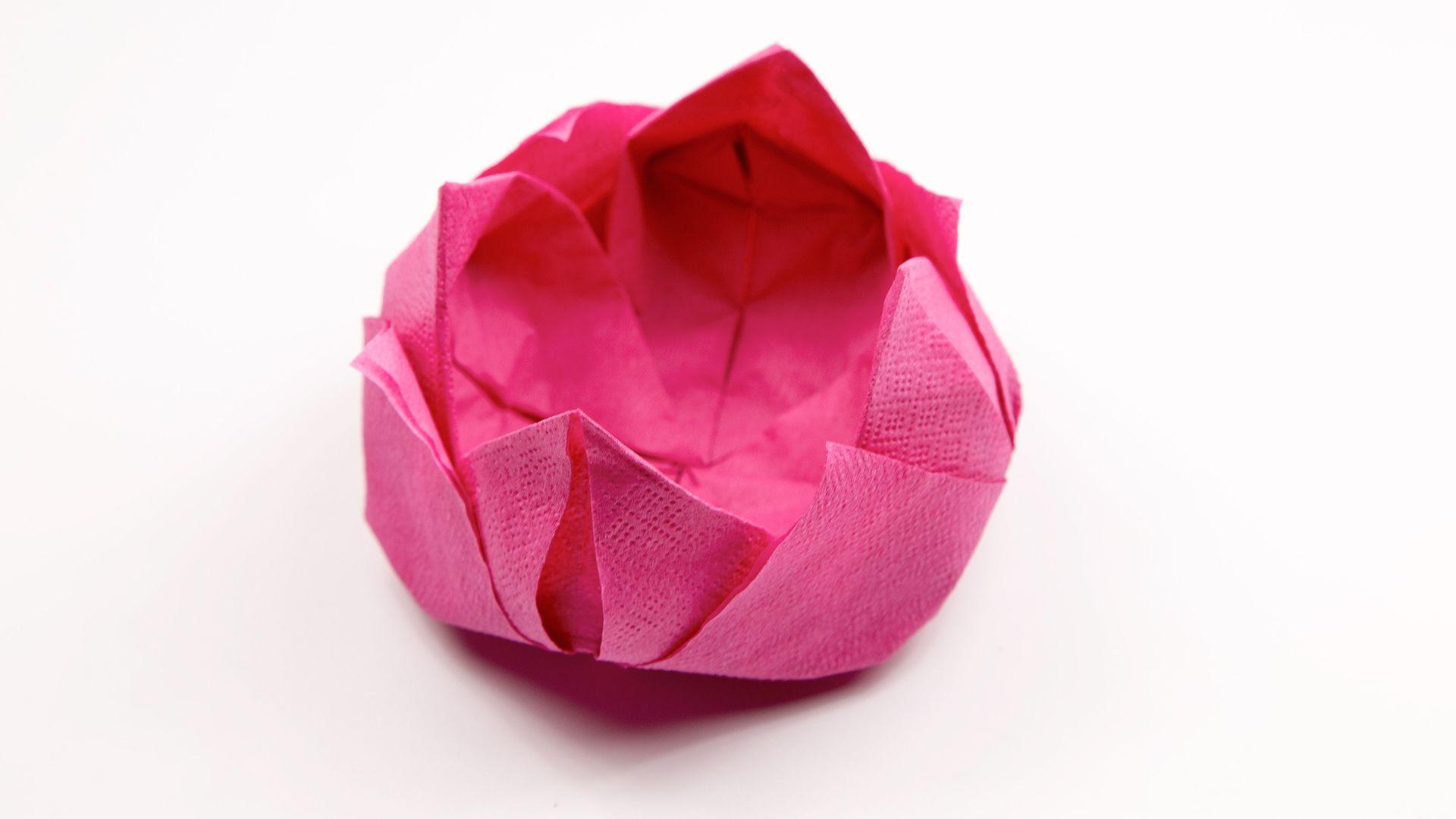 How to make an origami napkin lotus jeuxipadfo Gallery