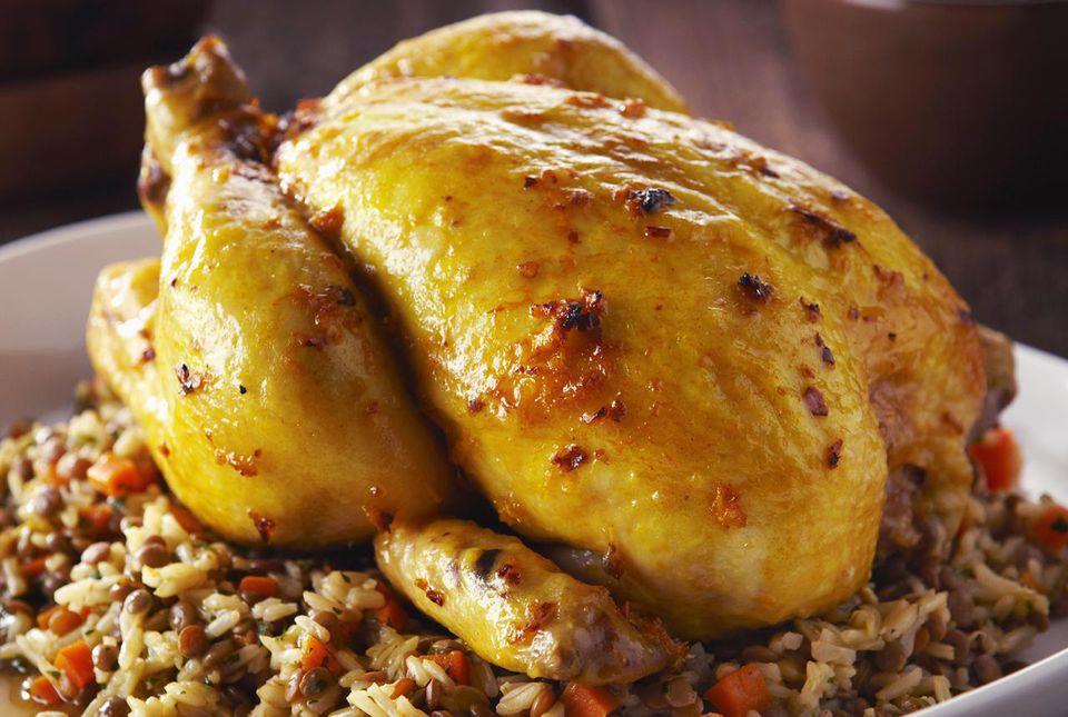 Indian roast chicken