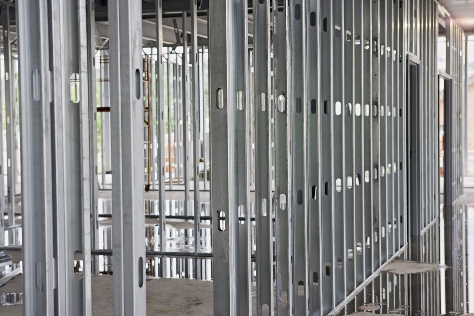 steel beams at construction site xxl - Metal Wall Framing