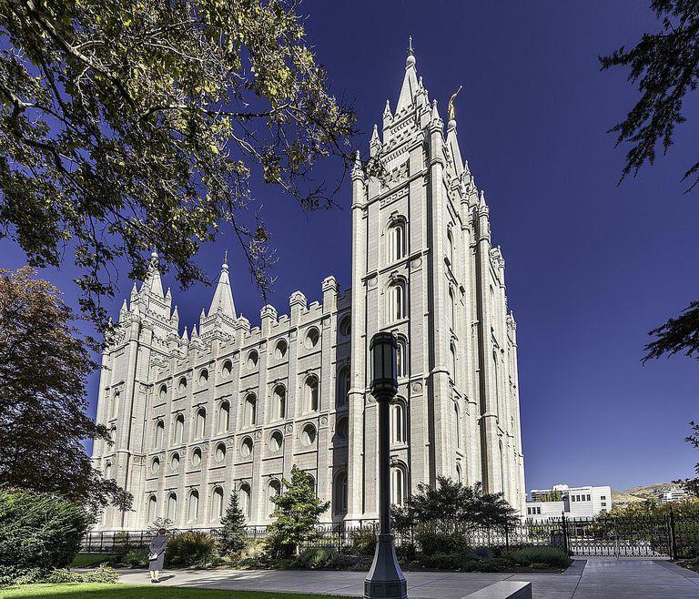 Salt Lake Temple, Salt Lake City, Utah, US...