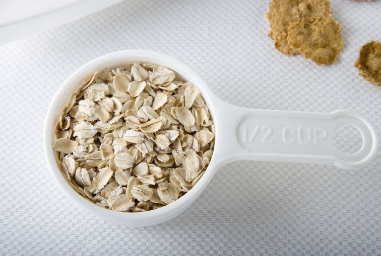measure grains with scoops