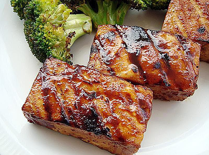Grilled tofu in hoisin sauce