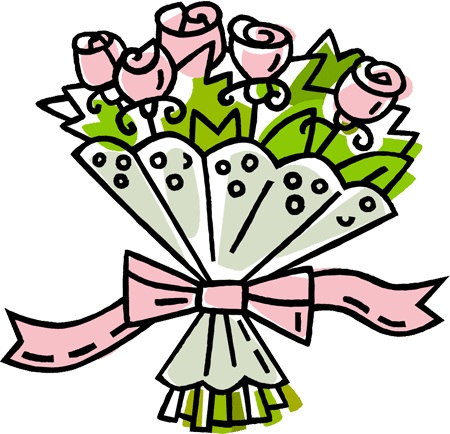 Clip Art of a Rose Bouquet