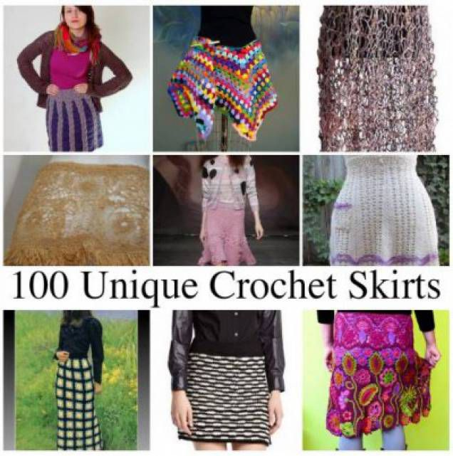 100 Unique Crochet Skirts