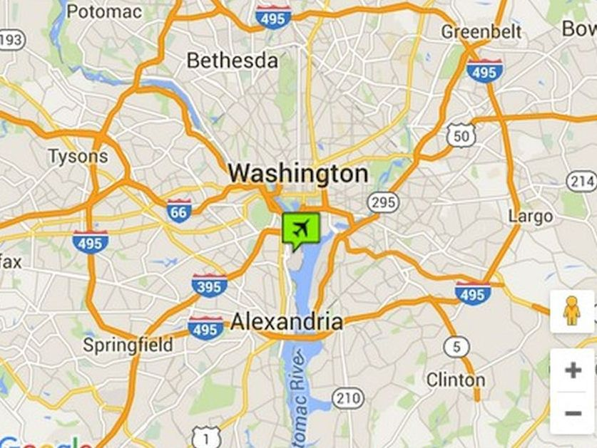 Washington DC Airports Maps And Directions - Washington map