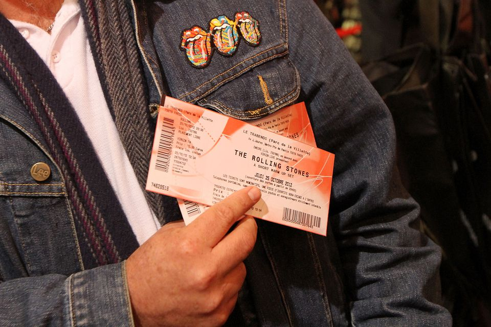 Father with tickets