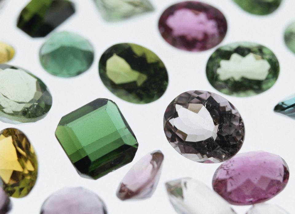 colourful tourmaline stones