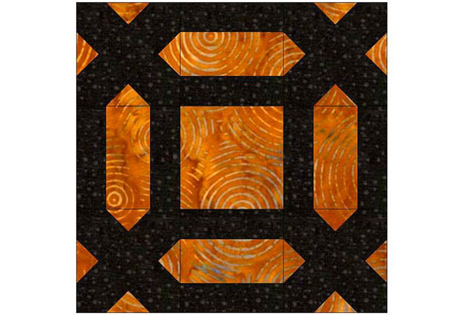 Garden Maze Quilt Block Pattern
