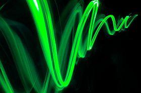 angel light ray green